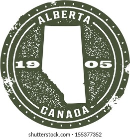 Vintage Style Alberta Canada Stamp