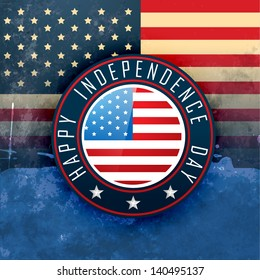 vintage style american independence day design