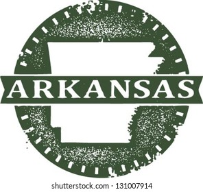 Vintage Style Arkansas USA State Stamp