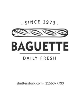Vintage style bakery shop label, badge, emblem, logo. Monochrome graphic art with engraved design element. Collection of linear vector graphic on white background.