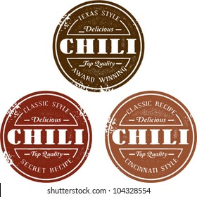 Vintage Style Chili Stamps