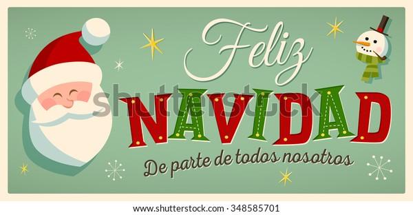 vintage style christmas card spanish 600w 348585701