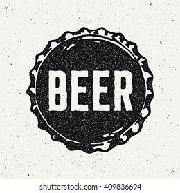 Vintage Style Craft Beer Sign. Ink stamp designs.
