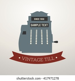 Vintage style design logo cash register