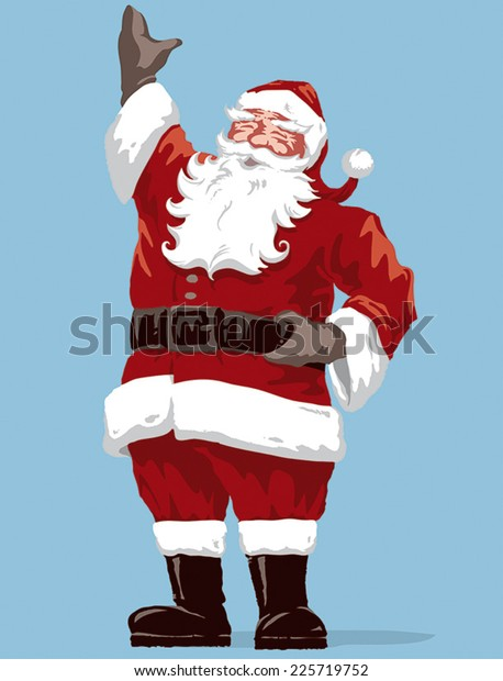 Father Christmas Images Free.Vintage Style Father Christmas Santa Claus Stock Vector