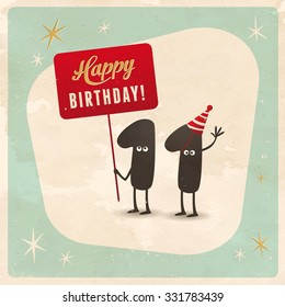 Vintage style funny 11th birthday Card  - Editable, grunge effects can be easily removed for a brand new, clean sign.