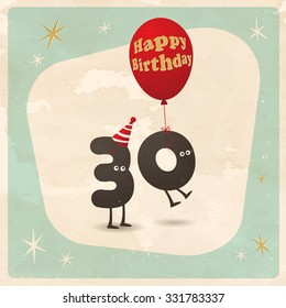 Vintage Style Funny 30th Birthday Card