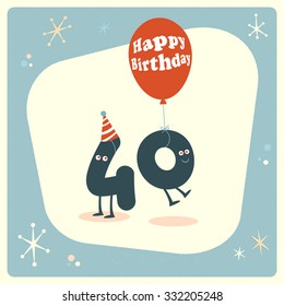 Vintage Style Funny 40th Birthday Card