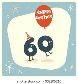 Vintage Style Funny 60th Birthday Card