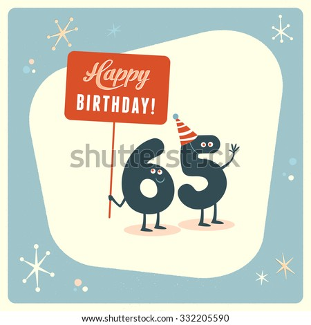 Vintage Style Funny 65th Birthday Card