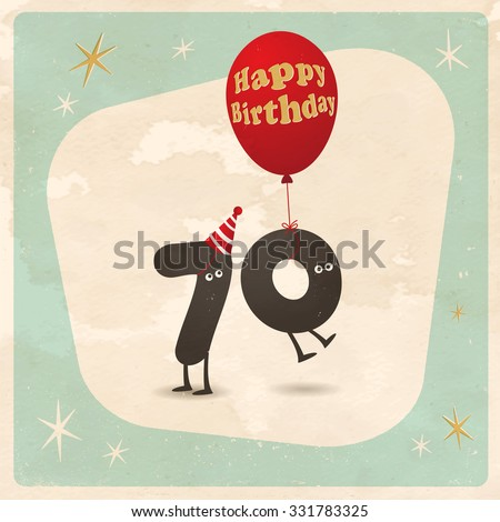 Vintage Style Funny 70th Birthday Card