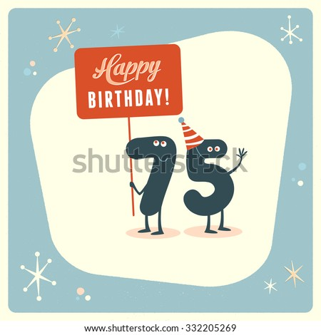 Vintage Style Funny 75th Birthday Card