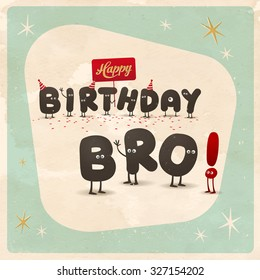 Birthday Wishes Brother Stock Vectors, Images & Vector Art