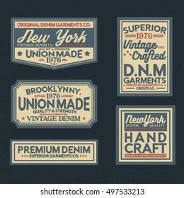 vintage style label vector pack