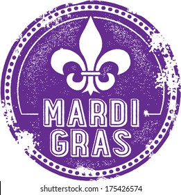 Vintage Style Mardi Gras Celebration Stamp