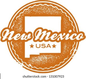 Vintage Style New Mexico USA State Stamp