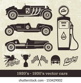 Vintage style sport cars