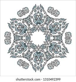 Vintage style vector mandala isolated on white background