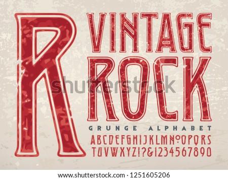 A vintage styled grunge
