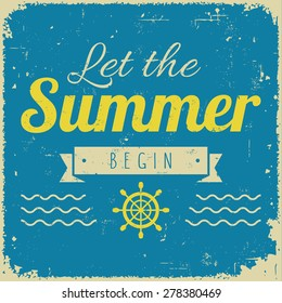 Vintage styled summer poster for promotional, retail, travel, and inspirational uses, and many more