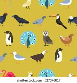 Vintage summer birds background.