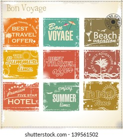Vintage summer labels