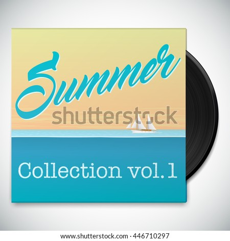 Vintage Summer Music Collection Music Album Stock Vector Royalty