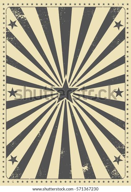 Arrière-plan vintage faisceau de soleil. Une affiche vintage pour votre divertissement