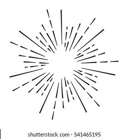 Vintage sunburst design element