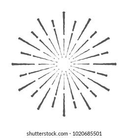 Vintage Sunburst Design Vector Template