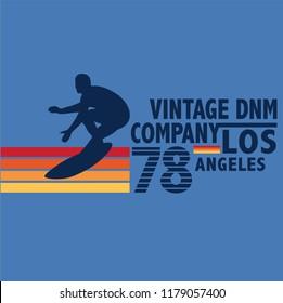vintage surf graphic illustration vector