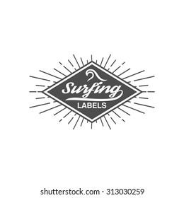 Vintage Surf Logo Template