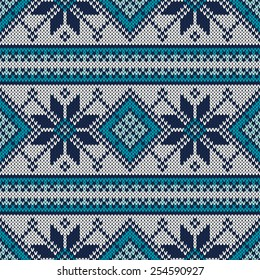 Vintage Sweater Design. Seamless Pattern