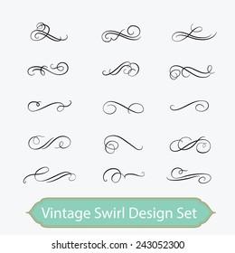 vintage swirl set