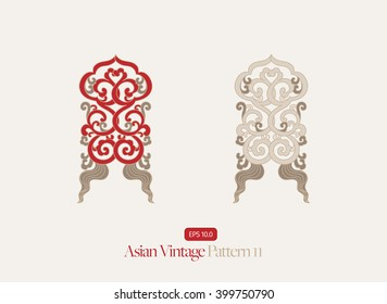 Vintage Symmetrical Asian Pattern
