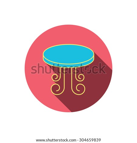 Vintage Table Icon Furniture Desk Sign Stock Vector Royalty Free