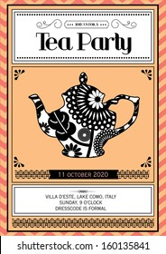 tea party invitation images stock photos vectors shutterstock