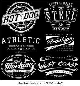 vintage tee graphics set