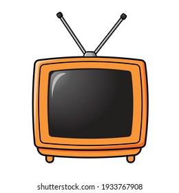 Vintage Television Cartoon Vector Illustration
