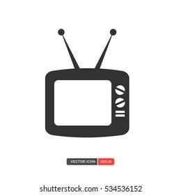 Vintage Television Icon Vector. Vector Illustration eps.10
