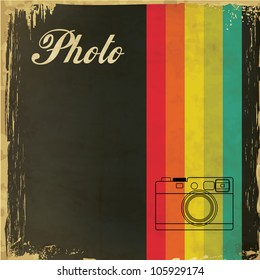 Vintage Template with Camera Design