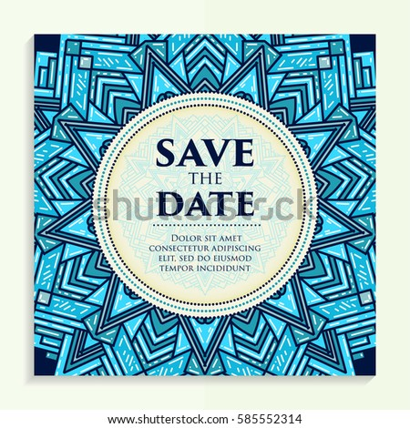 vintage template design layout wedding invitation stock vector