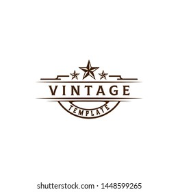 vintage template logo design. vector illustration. easy to edit, both color, shape, size and position.