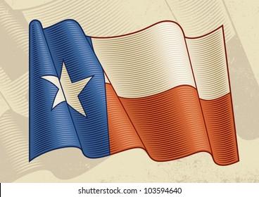 Vintage Texas Flag. Vector