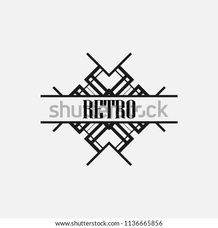 Vintage Text Frame Art Deco Style Stock Vector (Royalty Free ...