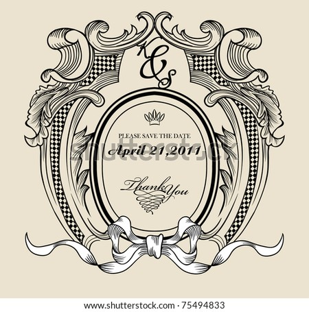 Vintage Text Frame Your Need Stock Vector (Royalty Free) 75494833 ...