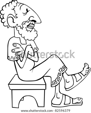 vintage thinking man stock vector royalty free 82596379 shutterstock Praying and Thinking vintage thinking man
