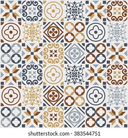 vintage tile pattern. vector illustration