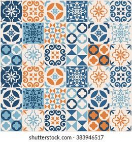 vintage tile pattern. vector illustration