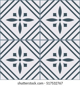 Vintage tiles intricate details for a decorative look. Seamless vector. Ceramic paint floor, ornament Collection Pattern Colorful Painted tin Illustration background Pattern. Stamford